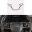 Peach Wood Grain 1X Steering Wheel Decor Cover Trim For Honda CR-V CRV 2017-2020