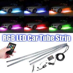 4PCS-LED-RGB-Neon-Strip-Light-Under-Car-Tube-Underglow-Underbody-Glow-IR-control
