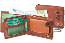 Woodland Men/'s Biker Wallet with Chain in Portrait Oil Pull up Buffalo Leather