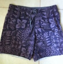 Quiksilver Quicksilver Board Shorts Men's XL Gray Floral Swim Surf