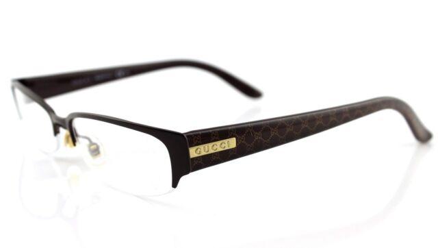8e248de1527 RARE New Authentic GUCCI Brown Beige Brown EyeGlasses Frame Glasses GG 4222  WM1
