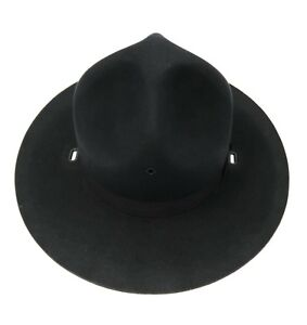 Image is loading Military-Campaign-Hat-Navy-Blue-Felt-Campaign-Hat- dabee10cd9e