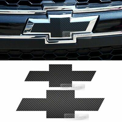 Front Rear Black Carbon Bowtie Emblem Decal Sticker For Chevy 2011-18 Captiva