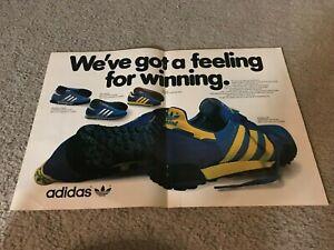 Vintage 1980 Adidas Marathon 80 Trainer Trx Running Shoes Poster Print Ad Rare Ebay