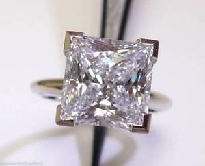 .5 ct Princess Ring Top Russian Quality CZ Imitation Moissanite Handmade Sz 7