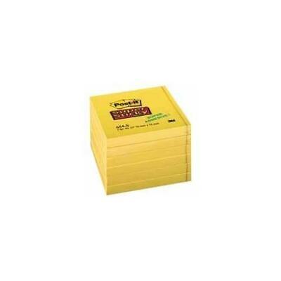 Office /& Stat 654S 3M Post-it Super Sticky 76x76mm Daffodil Yellow PK12-654S
