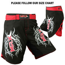 MRX MMA FIGHTER SHORTS GRAPPLING SHORT UFC CAGE KICK BOXING BLACK / RED SMALL