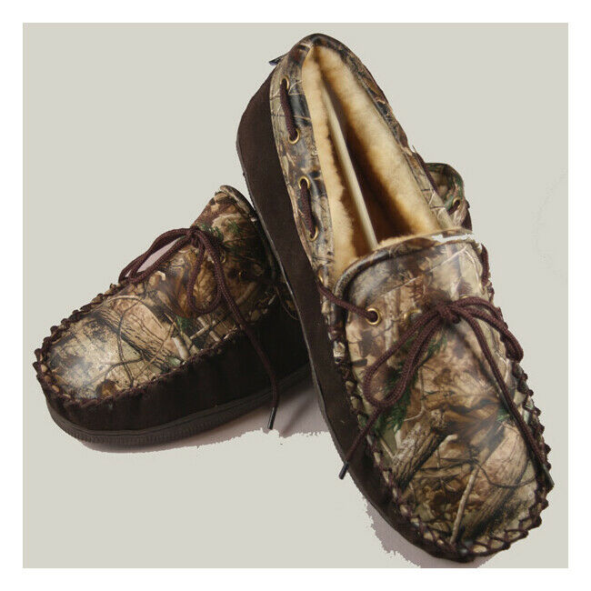 Realtree Camo Leather Slippers for Adults MANY SIZES unisex