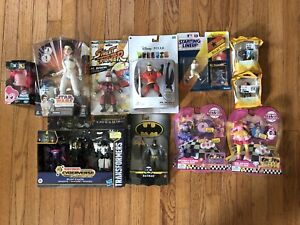 Various Action Figure LOT #3 of Fortnite Batman Transformers Street Fighter NEW