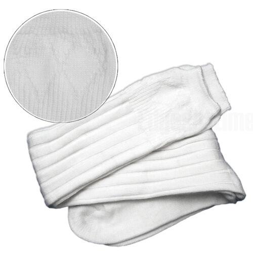 MENS SCOTTISH KILT HOSE WHITE SOCKS SIZE TO FIT LARGE 9-11UK 9.5-11.5US 43-45EU