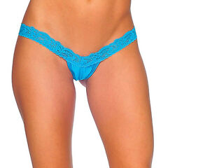 Body-Zone-Apparel-Lace-amp-Lycra-V-Front-Thong-Panty-Made-in-the-USA-O-S-1146LA
