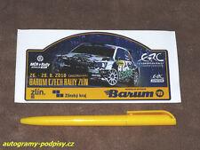 Sticker/Aufkleber - 2016 Barum Czech Rally SKODA Fabia R5 J. Tarabus