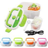 Portable Car Plug Electric Heated Lunch Box Heating Bento Food Warmer 12V 1.05L
