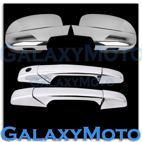 07-13 Chevy Silverado Chrome Full Mirror+2 Door Handle W//O PSG Keyhole Cover
