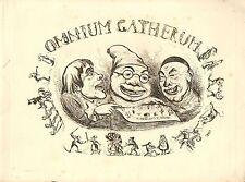 1840 impresión VICTORIANO ~ Omnium Gatherum ~ página de título sólo Henry Heath Caricaturas