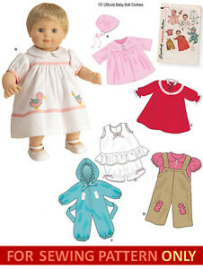 Sewing Pattern Make Vintage Style Doll Clothes Fits