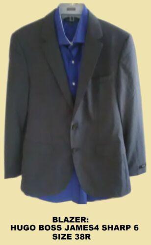 Men's Hugo Boss Sport Coat Blazer James Sharp 38R… - image 1