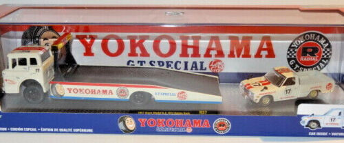 M2 MACHINES AUTO-HAULERS R37 YOKOHAMA 1957 MACK MODEL N /& 1974 DATSUN TRUCK