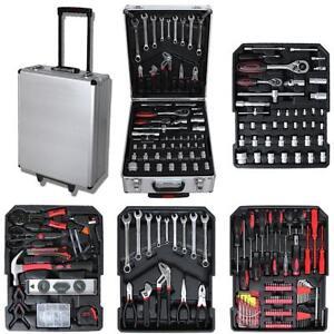 Capable Malette à Outils, 251 Outils, Avec Mallette En Aluminium Et Poignée Télescopique