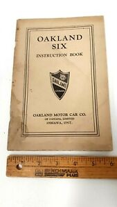 1929-OAKLAND-Six-Owners-Manual-Good-Condition-CDN