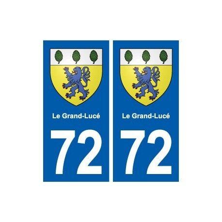 72 Le Grand-Lucé blason autocollant plaque stickers ville arrondis