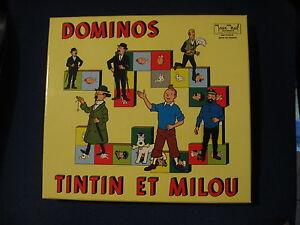 TINTIN-DOMINOS-BOITE-VIDE-VINTAGE-NEUVE-JEUX-NOEL-1970-EMPTY-BOX-CAJA-VACIA