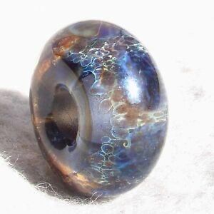 INKWELL-1-Handmade-Large-Hole-Glass-Bead-Flaming-Fools-Lampwork-Art-Glass-SRA
