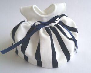 Ginny-8-034-Doll-Clothes-Handmade-Navy-amp-Cream-Ponti-Knit-039-Simone-039-Dress