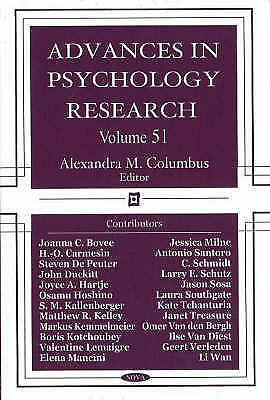 Advances in Psychology Research: 51, Alexandra Columbus, New Book