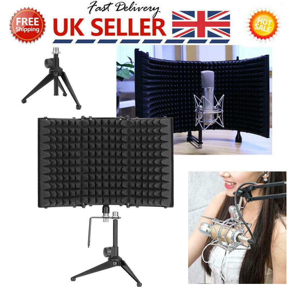 Microphone Shield Isolation Acoustic Reflection Screen Mic Sound Dampening