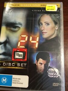24-TWENTY-FOUR-Series-Four-Kiefer-Sutherland-New-Sealed-6-DVDs-R4-PAL