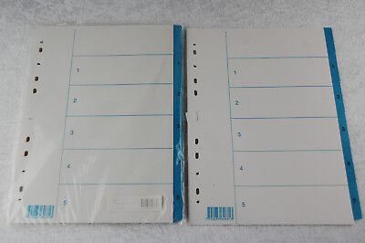 10 St Ordnerregister Register A4 1-12 12tlg  13tlg Manila Ordner-Register blanko