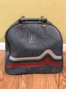 VTG-Brunswick-Single-Ball-Bowling-Bag-Gray-3-Stripes-Windjammer