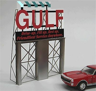 Miller/'s Gulf Rotating Animated Neon Sign O//HO Scale #55-025