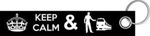 HonnêTe Keep Calm And Mécanicien I Train Chemin De Fer Porte-clés Porte-clés Lanyard-ger Schlüsselband Lanyard Fr-fr Afficher Le Titre D'origine