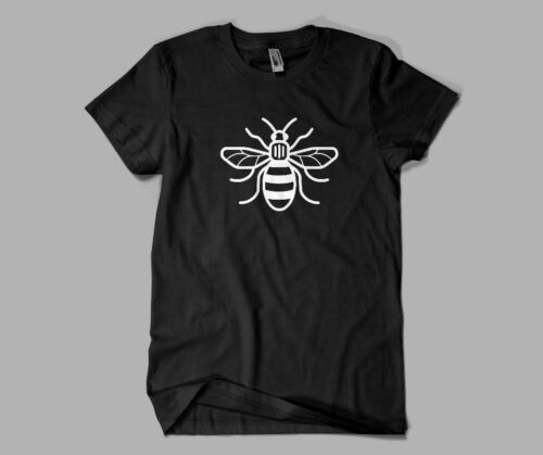 Manchester Bee kids adults tee shirts black white love manchester free p/&p