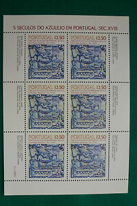 LOT-758-TIMBRES-STAMP-BLOC-FEUILLET-AZULEJOS-PORTUGAL-ANNEE-1983