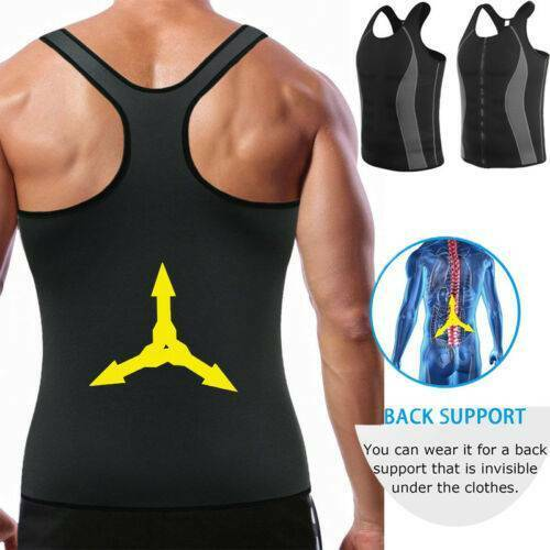UK Men Hot Slimmer Body Gym Sport Tee Shaper Sauna Sweat Effect Vests Tank Tops