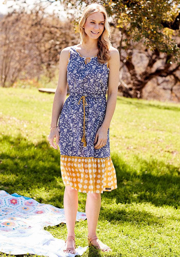 NWT damen MATILDA JANE Wish you were here Blau Ridge Dress M Medium NEW
