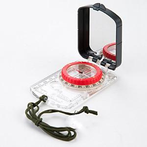 Tamume Multi-Fonction Portable Randonnée Plaque Base de Miroir de visée Boussole et pouces