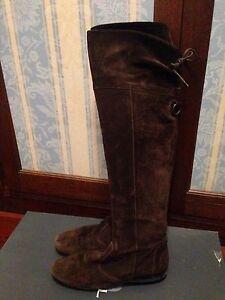 Vitulli-stivali-di-camoscio-colore-marrone-Tg-38-ORIGINALI