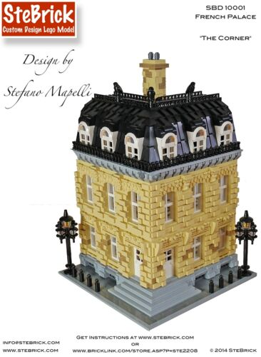 MOC French Palace COSTUM LEGO Building instructions-PDF files only!