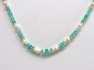 Apatit-facett-Kette-44-5-cm-925-Silber-Apatite-necklace-Collier-Collana-K4582