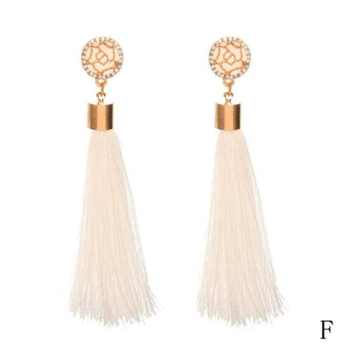 Womens  Bohemian Earrings Long Tassel Fringe Boho Dangle Earrings Jewelry Gift