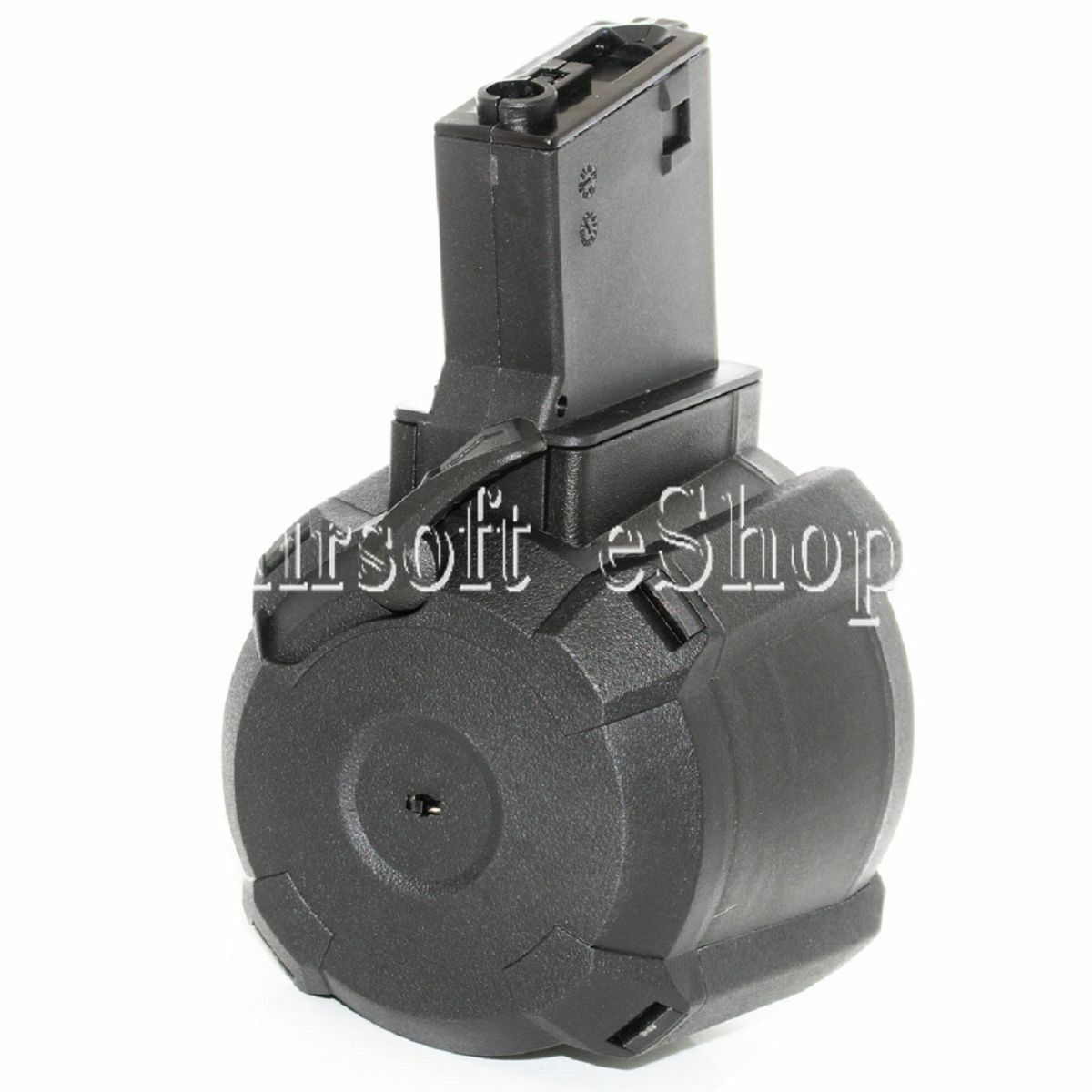 AirsoftMega BATTLEAXE 1400rd Sound Control Electric Drum Magazine For M-Series