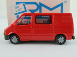 Rietze-10600-Ford-Transit-Halbbus-1986-1991-in-rot-1-87-H0-NEU-OVP