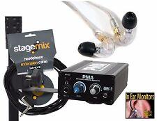 Shure SE215 & Elite Core PMA Hard Wired In Ear Monitor/Earphone System