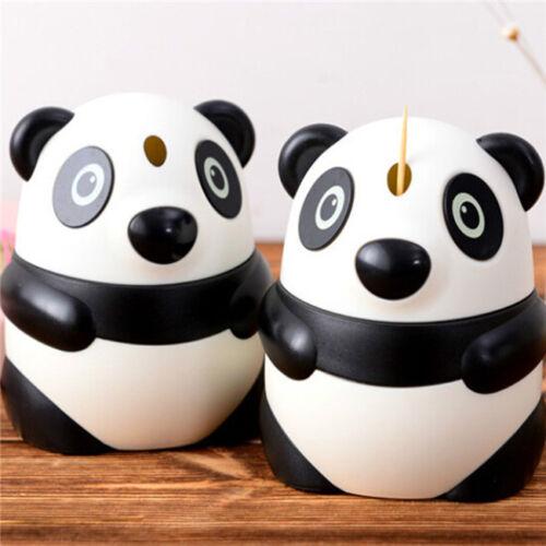 Creative Cartoon Panda Automatic Toothpick Holder Fruit Pick Box Dispenser