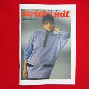 stricke-mit-10-89-Nachdruck-Zeitschrift-Apparatestrickerei-Tips-Strickmaschine