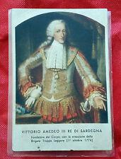Cartolina Vittorio Amedeo III Re di Sardegna - Fondatore G.d.F. (Viaggiata) 4/17